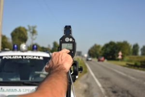 Police monitoring speed