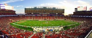 Panoramic view of football stadium