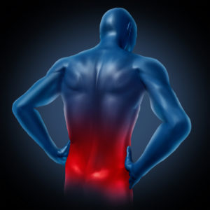 Lower back pain illustrated