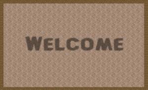 Welcome floor matt