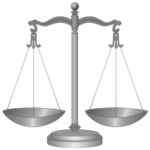 Silver scale of justice