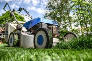 Lawnmower outside