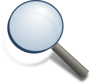 Animated magnifying glass