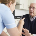Nurse yelling at elderly
