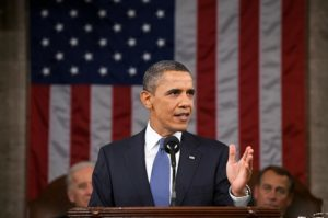 President Obama giving speech