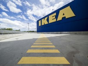 Outside view of IKEA store