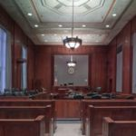 Empty courhouse
