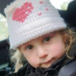 Little girl with winter hat