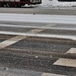 Snowy crosswalk