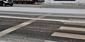 Snowy crosswalk