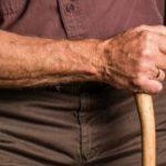Man using cane