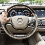 Interior of luxurious Mercedes car