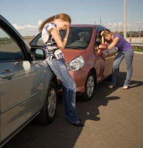 Teenage girls involved in car crash
