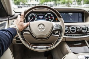 Interior of Mercedes car