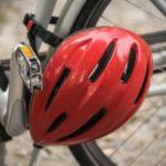 Helmet on a bike