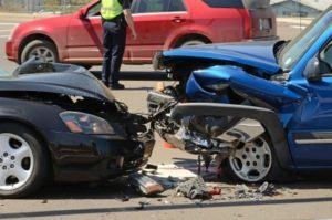 Frontal vehicle collision