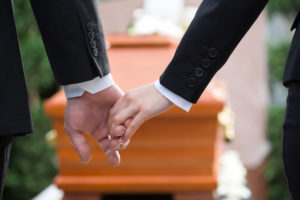 Couple at funeral