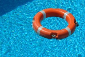 Lifesaver in a pool