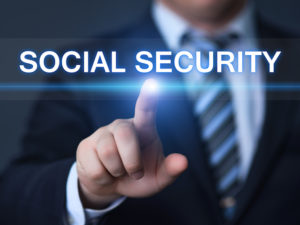 Man pointing to social security