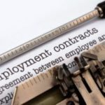 Employment contracts typed out