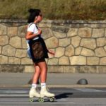 Girl rollerskating