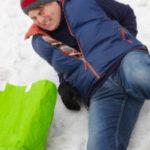 Man slips on ice