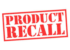Product Recall sign, injury lawyer