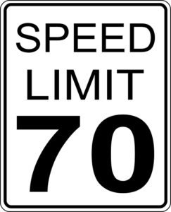 Speed Limit 70 sign