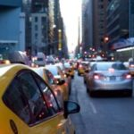 New York taxis and cars
