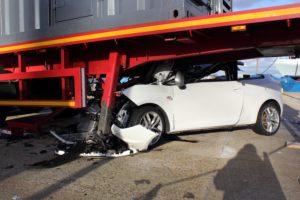 White car crash
