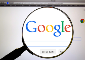 Magnifying glass on Google