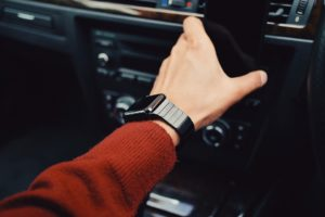 iWatch on wrist