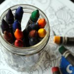 Crayons in a jar