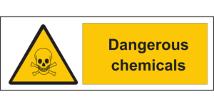 a dangerous chemicals sign, work injury attorney