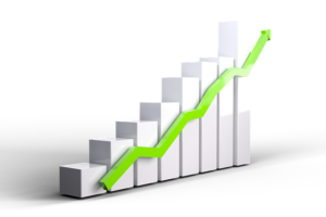 a bar chart with an increasing trend, chicago injury attorney