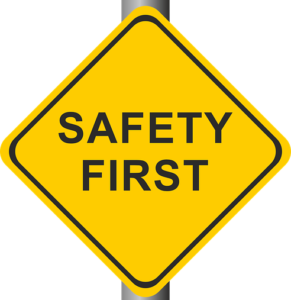 a safety first sign, work injury lawyer