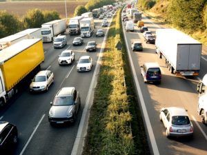 traffic jam on highway, auto accident attorney