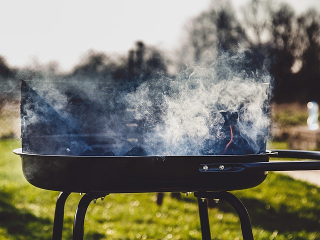 Smoke from bbq grill