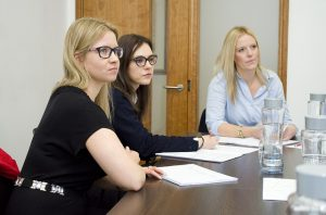 Three woman are in training course