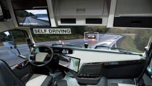 interior view of self driving car