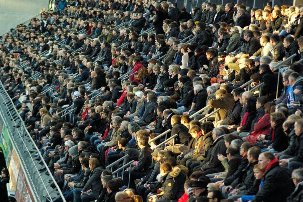 Spectators in stadium